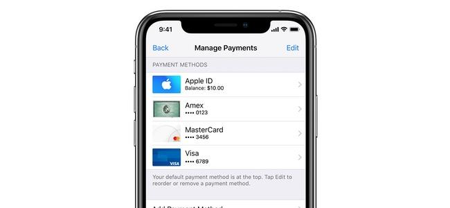 App StoreやiTunesのコンテンツ購入などにApple Payでの支払いができるように