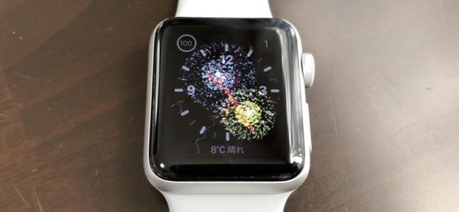 Apple Watchにお正月専用の演出が登場。通知のあいさつをタップすると文字盤に花火が