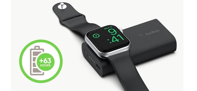 BelkinがApple Watchを約3.5回充電できる「BOOST↑CHARGE Apple Watch 用モバイルバッテリー (2,200 mAh)」発売を5月31日より開始