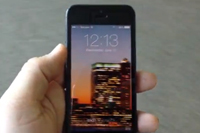 iOS 7のロック画面にパノラマ写真を設定すると凄い!景色がくるくる周る!
