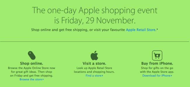 Appleが11月29日に1日限定のブラックフライデーセールを開催!※ただし日本は除く