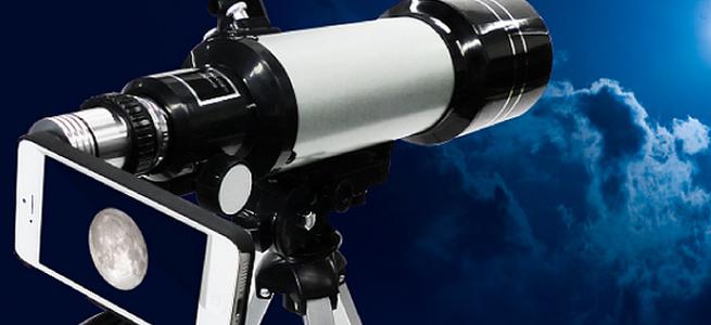 iPhoneで月を観よう!お手軽なiPhone向け天体望遠鏡セット