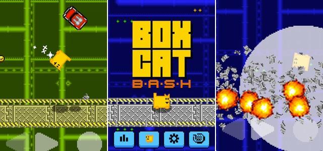 その硬いボディーで落ちてくる車を破壊しまくれ!四角いネコが体当たりしまくるアクションゲーム「Box Cat Bash」レビュー