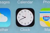 iOS 7では、ホーム画面の時計のアイコンがそのまま時刻を表している