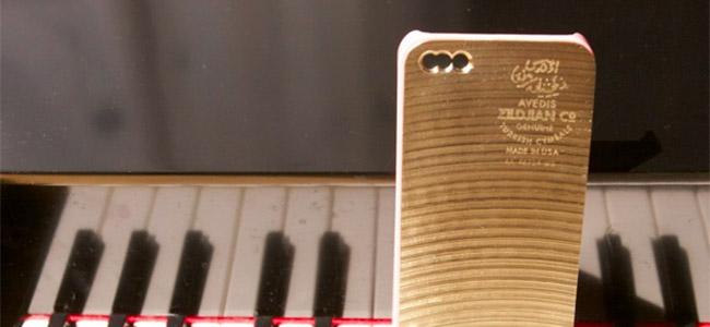 かっこいい!割れたシンバルを再利用して作ったiPhoneカバー