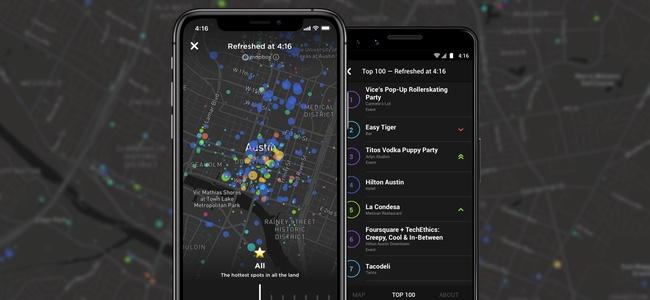 Foursquareがリアルタイムに人が集まっている場所が見える「Hypertrending」機能を展開