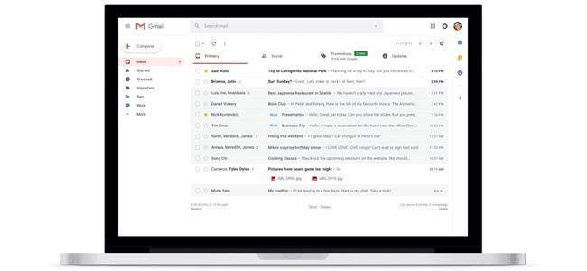 PCブラウザ版のGmailが大規模アップデートでデザインを刷新。一覧から添付ファイルの確認やスヌーズ機能、GoogleカレンダーやTodoリストとの連携を強化