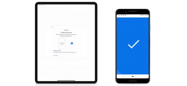 iOS端末でのGoogle二段階認証が、Android端末があればパスワード不要でできるように