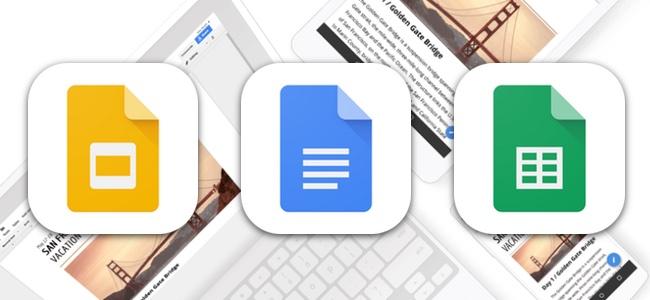GoogleのOffice系アプリ「Google ドキュメント・スプレッドシート・スライド」がアップデートでiPhone XとiOS 11に対応。iPadではドラッグ&ドロップも可能に