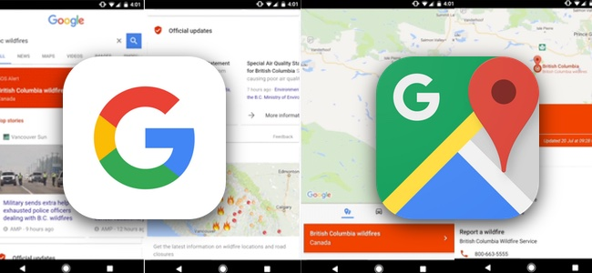 Googleが検索とマップで災害情報を表示する新機能「SOSアラート」を開始。災害発生地域の情報をまとめて確認が可能