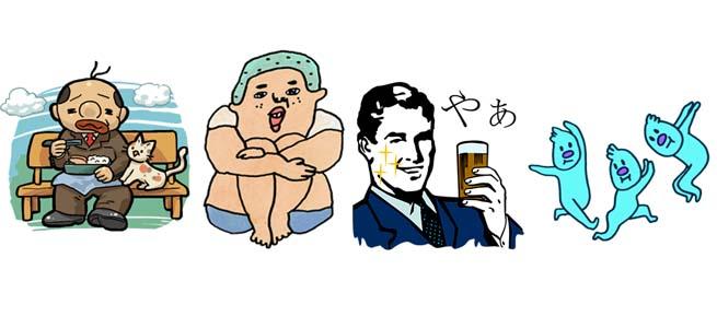 【厳選LINEクリエイターズスタンプ】ちょっと奇妙な人型スタンプ特集「ヒロシ」「投資家のためのうがいくん」ほか