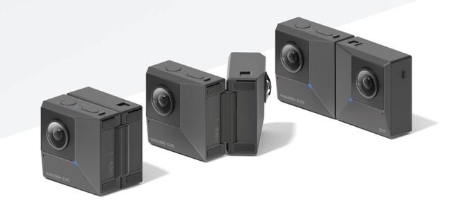 閉じれば全天球カメラ、開けば3Dカメラになる「Insta360 EVO」発表。4月から発売開始