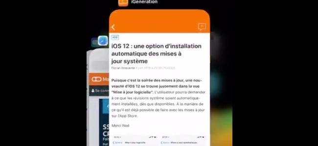 iOS 12ではiPhone Xでアプリ強制終了の際にタスク一覧画面で長押しが不要に