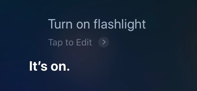 iOS 12からSiriに話しかけてフラッシュライトのオンオフができるように