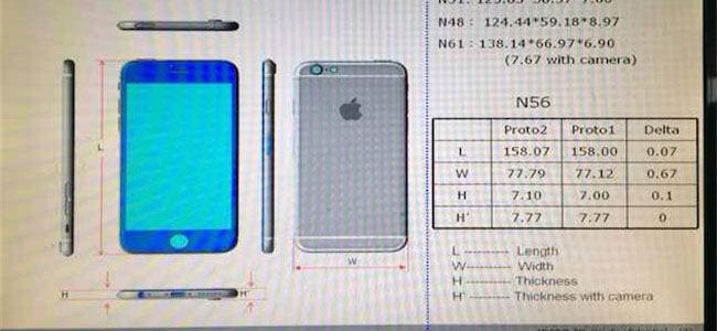 iPhone 6(仮)の詳細な寸法が明らかに!?やっぱりかなりデカいぞ