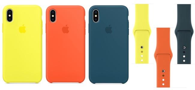 iPhone X用シリコーンケースとApple Watchスポーツバンドに新色が登場