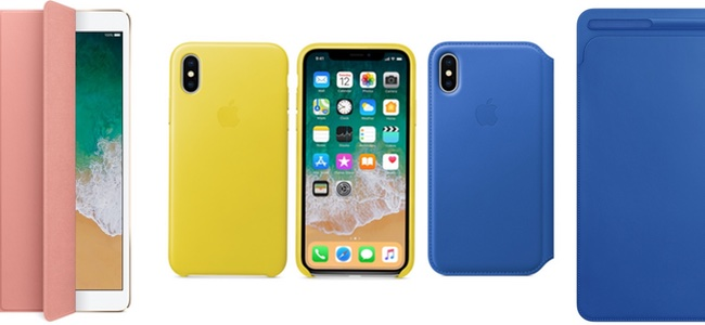 iPhone X、iPhone 8/7シリーズのケースやiPadのSmart Coverなどに春の新色が追加。先日発表されたApple Watchバンドの新シリーズも発売開始