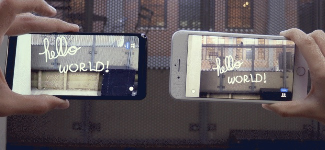 Googleの開発したAR空間にお絵かきできるアプリ「Just a Line」が凄い。iOSとAndroid、OSやデバイスを超えて同じ空間にお絵かきが可能
