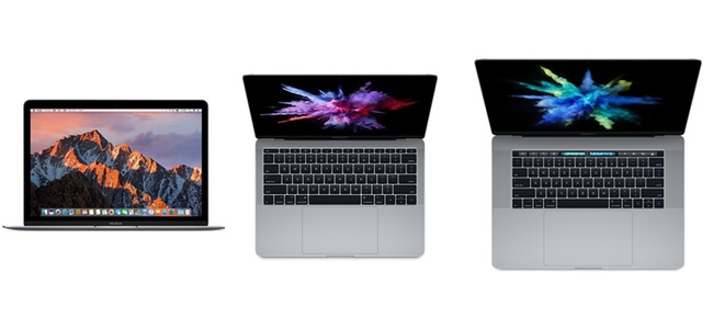 MacBook Pro、MacBookのCPUが第7世代Intel core「KabyLake」にアップグレード