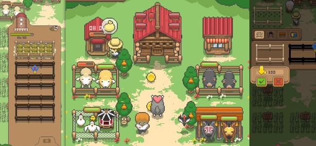 小さいけれど作れる牧場は無限大。1画面内で全部できるドット絵が素敵な牧場ゲーム「作ろう!ミニチュア牧場」