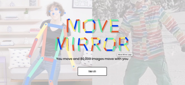 Googleが「近い構図の画像が送られてくる」的なサービス「Move Mirror」を公開。PCのWebカメラの前でポーズを取ると同じポーズの画像を探してくる