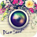 手書き風スタンプとおまかせテンプレートでおしゃれに写真加工「Pico Sweet (ピコ・スイート)」