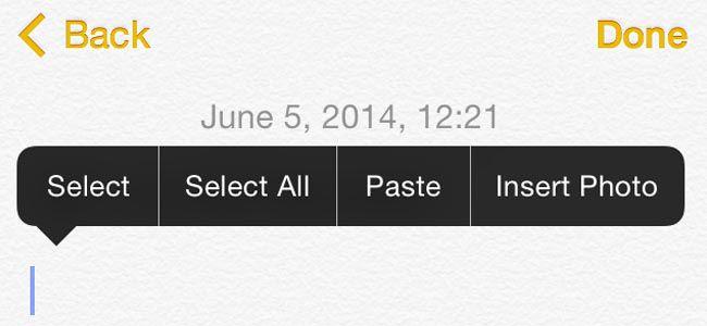 iOS 8の「メモ」は写真挿入が出来るうえに、文字の太字やアンダーラインも可能らしい