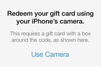 iOS 7ではiTunesカードのチャージが簡単に!カメラを向けただけでコードが読み取れる!