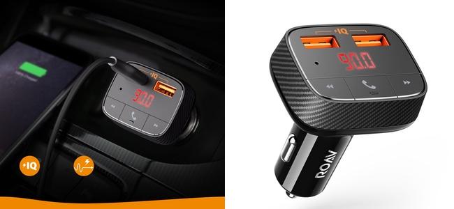Ankerから、USBカーチャージャーとFMトランスミッターの機能を兼ね備えた「Roav Transmitter F0」が発売開始