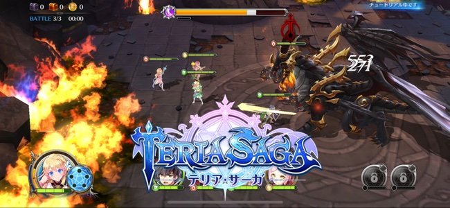 新作RPG「テリアサーガ」リリース!パーティはまとめて操作しスキルは個別に放つ、アクション+戦術の新スタイル