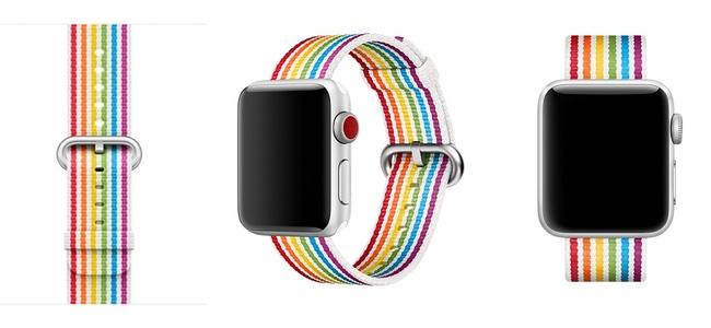 Apple Watch用の新バンド「プライドエディションウーブンナイロン」が発売開始