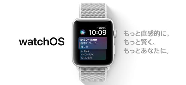 watchOS 4リリース!