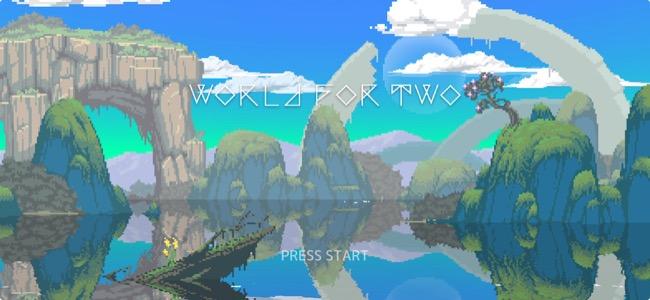 生物の滅んだ美しい世界に新たな生命を創造する。グラフィック、音楽が素晴らしく、テンポよく進むゲームとしてのバランスも心地よい「World for Two」