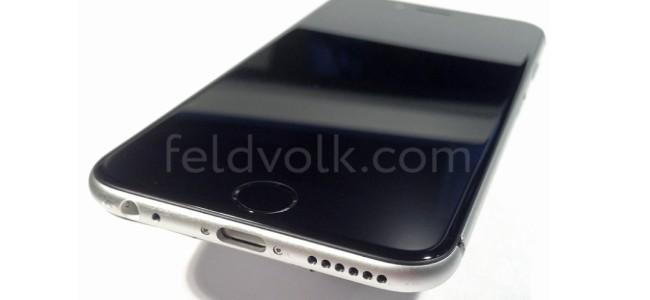 iPhone 6(仮)のスリープボタンは側面に移動か。全体の外観がわかるリーク画像が公開